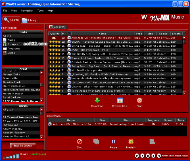 WinMX Music Screenshot 2