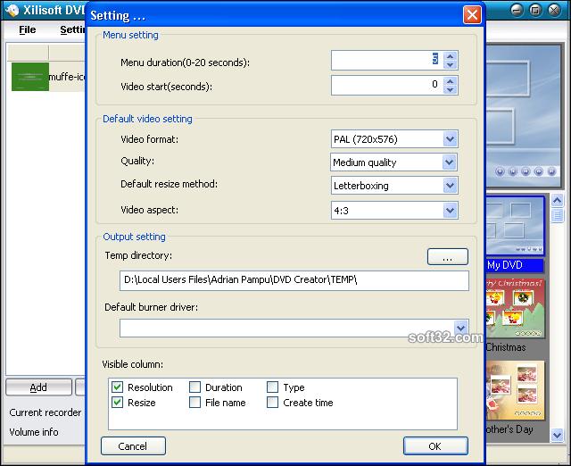 Xilisoft DVD Creator Screenshot 4