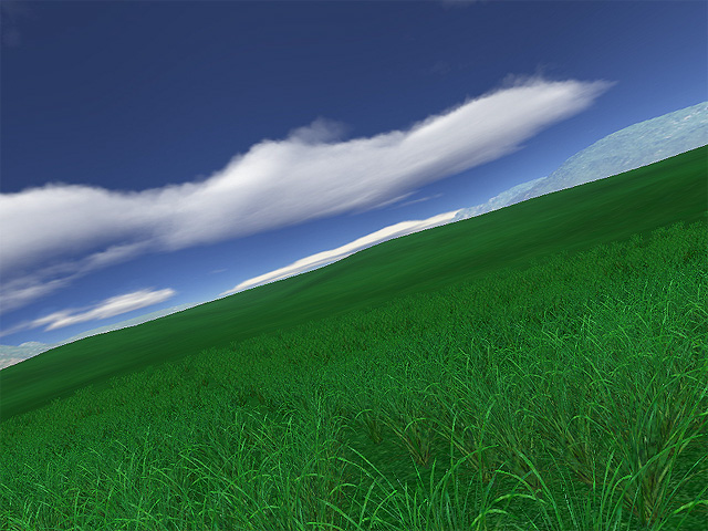 Green Fields 3D Screensaver Screenshot