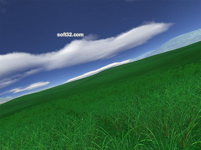 Green Fields 3D Screensaver Screenshot 3