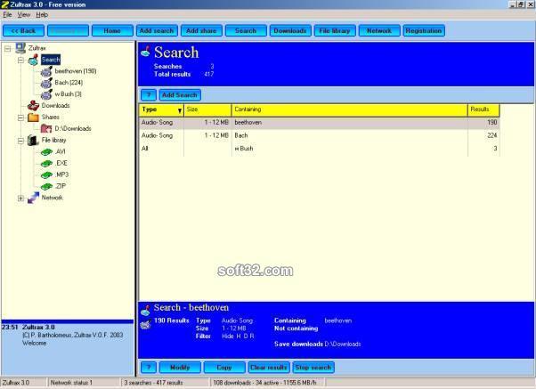 Zultrax P2P Screenshot 3