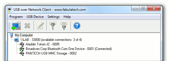 USB over Network Screenshot