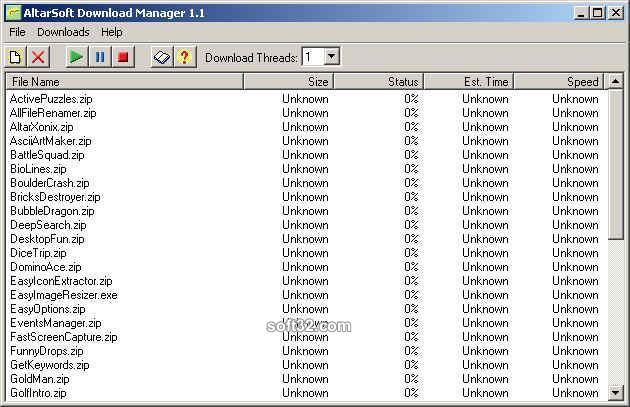 AltarSoft Download Manager Screenshot