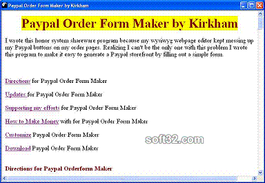 Paypal Order Form Maker by Kirkham Screenshot 3