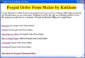 Paypal Order Form Maker by Kirkham 1