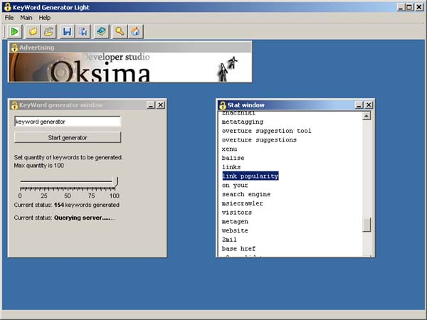 KeyWord Generator lite Screenshot 1