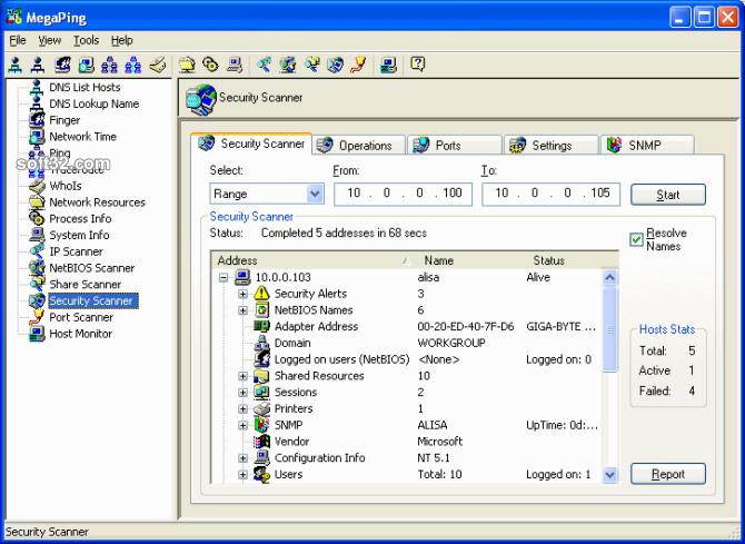 MegaPing Screenshot 2