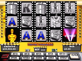 Movie Madness Slots / Pokies Screenshot