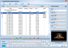 ImTOO DVD to DivX Converter Screenshot
