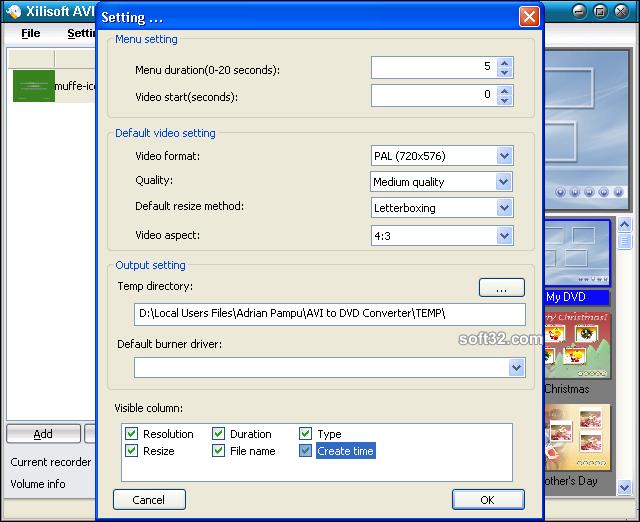 Xilisoft AVI to DVD Converter Screenshot 4