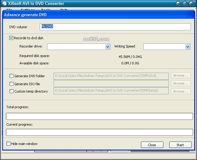 Xilisoft AVI to DVD Converter Screenshot 5