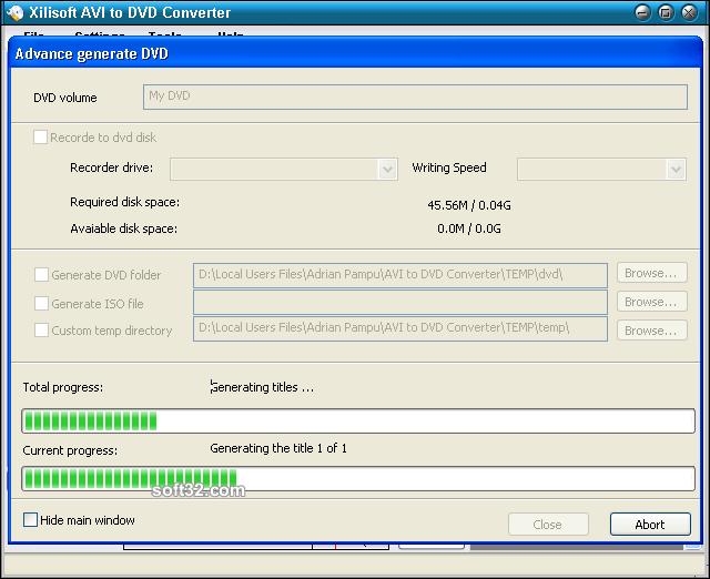 Xilisoft AVI to DVD Converter Screenshot 6
