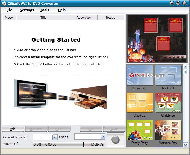 Xilisoft AVI to DVD Converter Screenshot 3