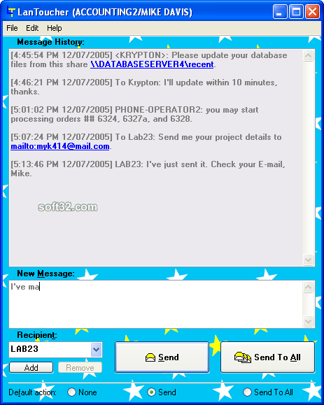 LanToucher Network Chat Screenshot 3