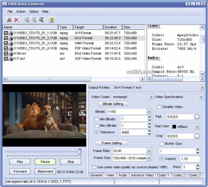 YASA Video Converter Screenshot 2
