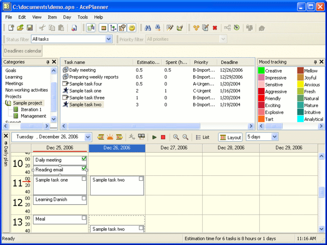AcePlanner Screenshot