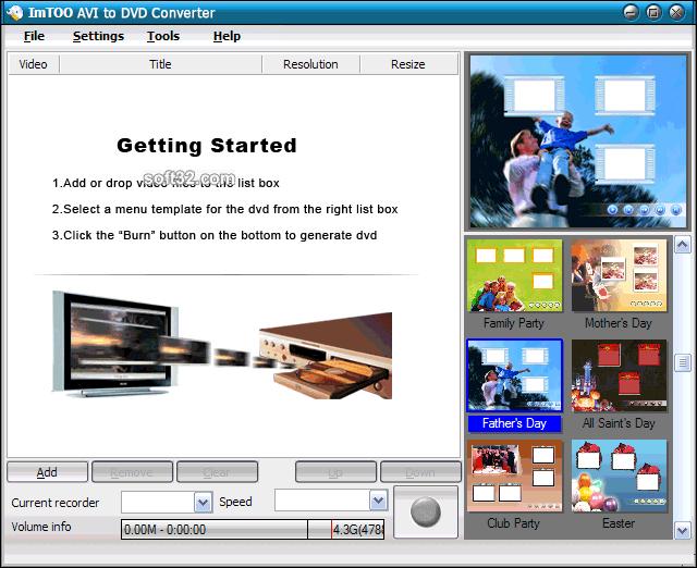 ImTOO AVI to DVD Converter Screenshot 3