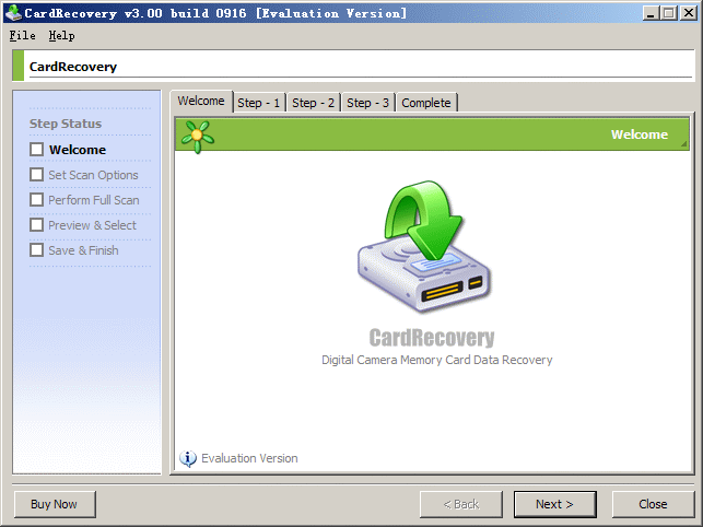 CardRecovery Screenshot