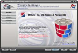 DBSync for MS Access & PostgreSQL Screenshot 1