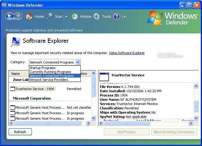 Microsoft Windows Defender Screenshot 2