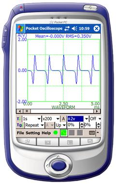 Virtins Pocket Oscilloscope Screenshot 1