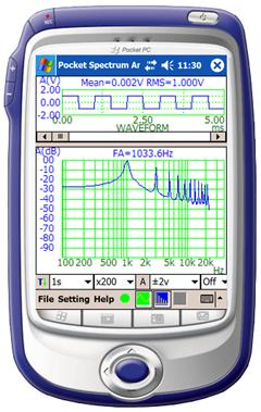 Virtins Pocket Spectrum Analyzer Screenshot