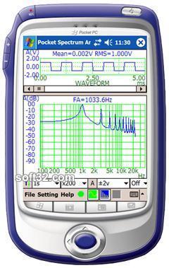 Virtins Pocket Spectrum Analyzer Screenshot 2