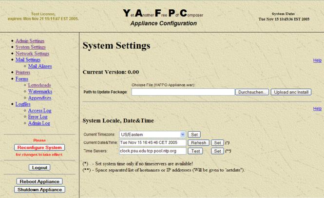YAFPC-Appliance