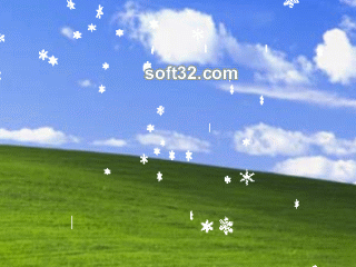 3D Snow Screensaver Screenshot 2