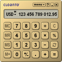 Euro Calculator Screenshot 1