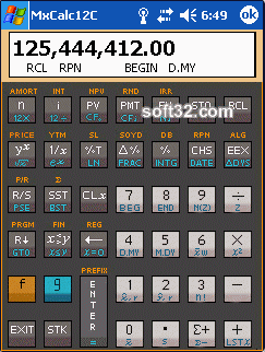MxCalc 12c Screenshot 2