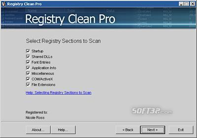 Registry Clean Pro Screenshot 2