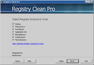 Registry Clean Pro Screenshot
