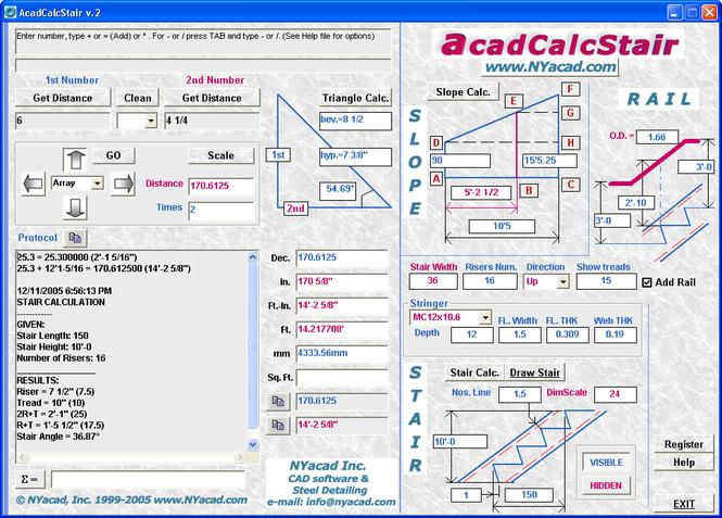 AcadCalcStair Screenshot 1