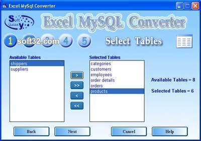 MySQL Excel Screenshot 2