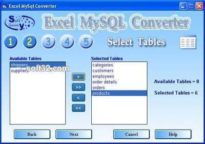 Excel MySQL converter Screenshot 2