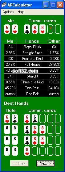 Advanced Poker Calculator Screenshot