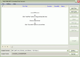 Allok WMA MP3 Converter Screenshot 1
