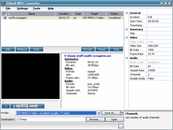 Xilisoft MP4 Converter Screenshot 4