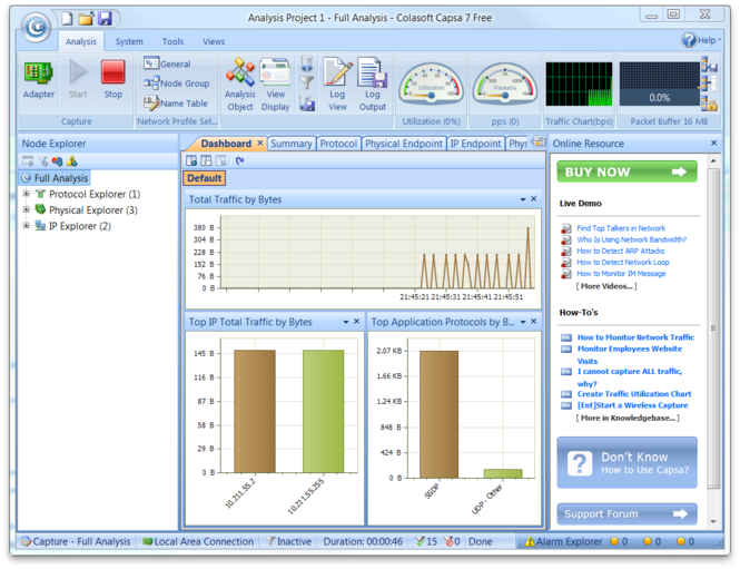 Colasoft Capsa Professional Screenshot