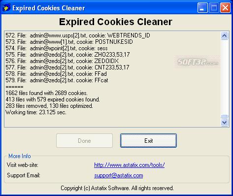 Expired Cookies Cleaner Screenshot 3