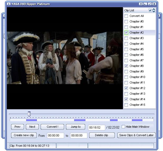 YASA DVD Ripper Platinum Screenshot 1