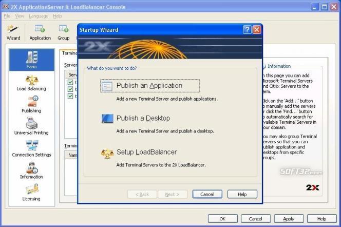 2X ApplicationServer Screenshot 3