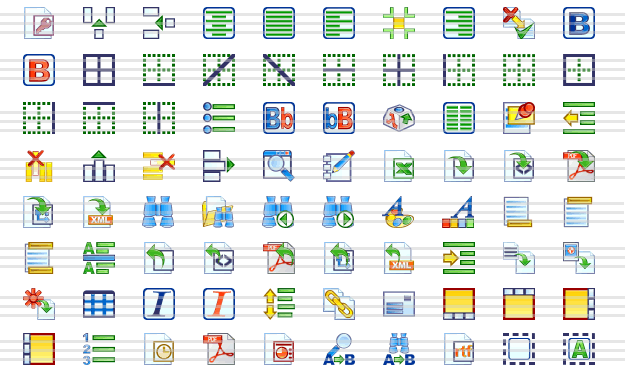 Word Preccessing Icon Collection Screenshot