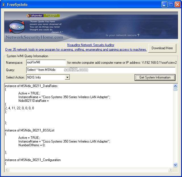 FreeSysInfo Screenshot 3