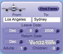 AirCompare Yahoo! Widget Screenshot 3