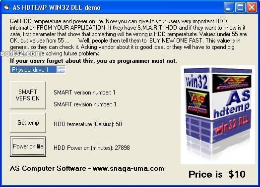 AS HDTEMP WIN32 DLL Screenshot 2