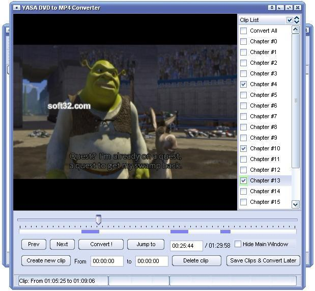 YASA DVD to MP4 Converter Screenshot 2