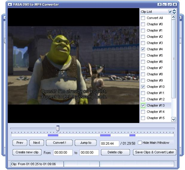 YASA DVD to MP4 Converter Screenshot 1
