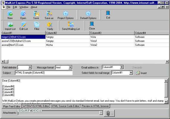 Mailing List Express Pro Screenshot 2